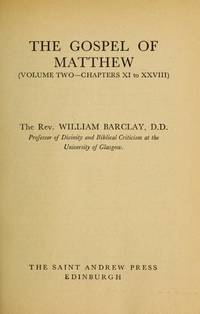 image of Matthew: v. 1 (Daily Study Bible)
