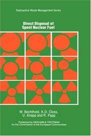 Direct Disposal of Spent Nuclear Fuel (Radioactive Waste Management)