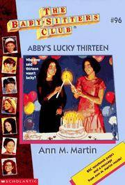 image of Abby's Lucky Thirteen: The Babysitters Club #96