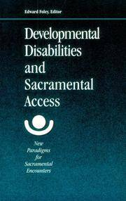 Developmental Disabilities & Sacramental Access
