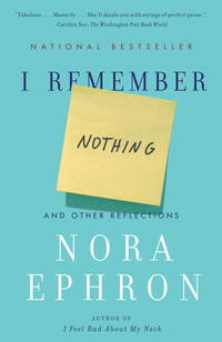 I Remember Nothing & Other Reflections. [paperback]
