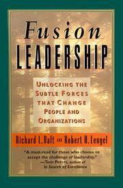 Fusion Leadership Daft, Richard L and Lengel, Robert H by  Robert H  Richard L; Lengel - Paperback - 2000-08-30 - from Ocean Books (SKU: UA-NEGW-WL6H)