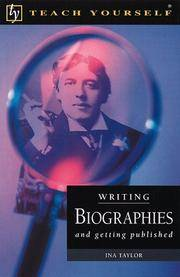 image of Writing Biographies and Getting Published (Teach Yourself)