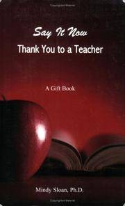 Say it Now: Thank You to a Teacher