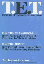 Teacher Effectiveness Training : The Program Proven to Help Teachers Bring Out the Best in Students by  Thomas Gordon - from Better World Books  (SKU: 15132248-6)