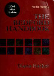 image of The Bedford Handbook: With 2003 MLA Update