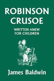 image of Robinson Crusoe Written Anew for Children (Yesterday's Classics)