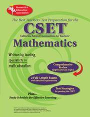 CA CSET Math 7-12 (REA) - The Best Teachers' Test Prep for the Cset by Editors of REA - Paperback - 1st - 2007-09-17 - from Bacobooks (SKU: P-497-120)