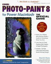 Corel Photo-Pain 8 for Power Macintosh, The Official Guide