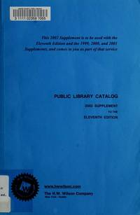 Public Library Catalog : Guide to Reference Books and Adult Nonfiction