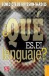 ¿Qué es el lenguaje?