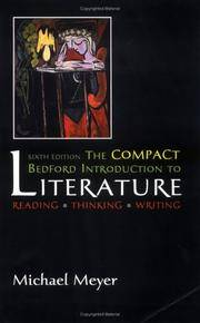 image of The Compact Bedford Introduction to Literature: Reading, Thinking, Writing, 6th