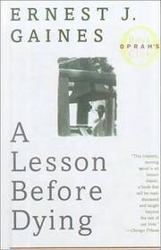 image of A Lesson Before Dying (Turtleback School_Library Binding Edition)
