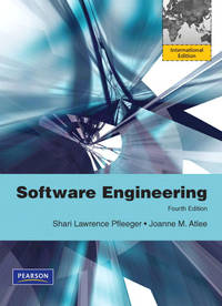 Software Engineering: Theory and Practice: International Edition