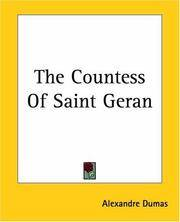 image of The Countess Of Saint Geran