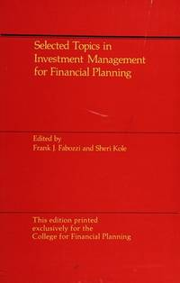 Selected Topics in Investment Management For Financial Planning