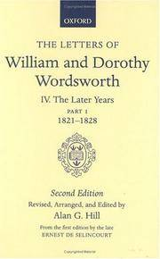 The Letters of William and Dorothy Wordsworth Second Edition III. The Later Years Part 1 1821-1828