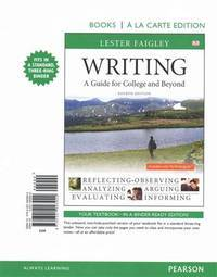 image of Writing: A Guide for College and Beyond, Books a La Carte Edition Plus MyWritingLab with Pearson eText -- Access Card Package (4th Edition)