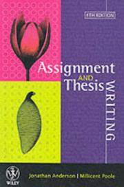 Assignment and Thesis Writing by  Millicent E  Poole - Paperback - from Phatpocket Limited and Biblio.co.uk