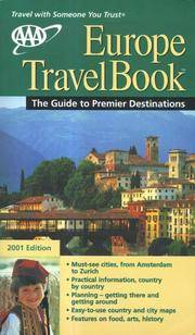 AAA 2001 Europe TravelBook: The Guide to Premier Destinations (AAA Europe Travelbook)