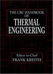 CRC Handbook of Thermal Engineering (Mechanical and Aerospace Engineering Series) by Frank Kreith - Hardcover - from Better World Books  and Biblio.com