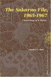 The Sukarno File, 1965-1967: Chronology of a Defeat (Social Sciences in Asia) Dake, Antoni