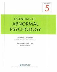 image of Essentials of Abnormal Psychology (with CD-ROM)