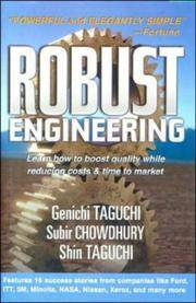 Robust Engineering: Learn How to Boost Quality While Reducing Costs & Time to Market by  Shin  Subir; Taguchi - Hardcover - 1999-11-08 - from Light House and Biblio.com