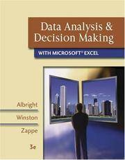 Data Analysis and Decision Making with Microsoft Excel (with CD-ROM, InfoTrac, and Decision Tools...