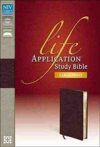 NIV, Life Application Study Bible, Second Edition, Large Print, Bonded Leather, Burgundy