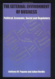 The external environment of business: Political, economic, social and regulatory