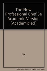The New Professional Chef, Fifth Edition