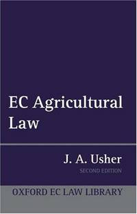 EC Agricultural Law (Oxford European Community Law Library)