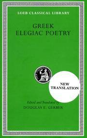 Greek Elegiac Poetry by Mimnermus Theognis - Hardcover - from Ria Christie Collections (SKU: ria9780674995826_new)