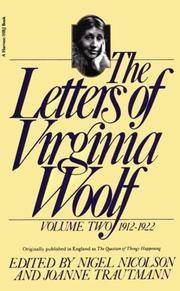 The Letters of Virginia Woolf: Volume 2, 1912-1922