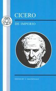 image of Cicero: De Imperio (Latin Texts)