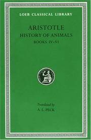 ARISTOTLE: HISTORIA ANIMALIUM II History of Animals. Volume II: Books  IV-VI (Bk. 4-6)