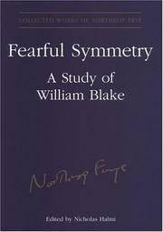 Fearful Symmetry: A Study of William Blake by  Nicholas (Editor)  and Halmi - Hardcover - Illustrated.......... - 2004 - from OIBooks-Libros (SKU: 0001127)