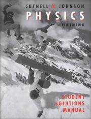 image of Student Solutions Manual to Accompany Physics 5th Edition