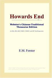 image of Howards End (Webster's Chinese-Traditional Thesaurus Edition)