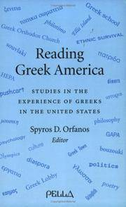 Reading Greek America   Studies in the Experience of Greeks in the United States