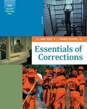 Essentials of Corrections (with Online Study Guide and InfoTrac )