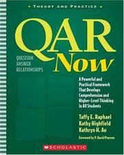 QAR Now A Powerful and Practical Framework That Develops Comprehension and Higher-Level Thinking...
