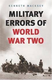 Military Errors of World War Two (Cassell Military Paperbacks)