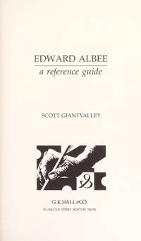 EDWARD ALBEE. A Reference Guide.