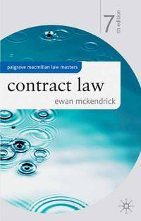 image of Contract Law (Palgrave Macmillan Law Masters)