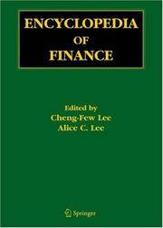 Encyclopedia of Finance by Cheng-Few Lee (Editor) - 2006-04-17