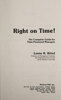 RIGHT ON TIME - THE COMPLETE GUIDE FOR RIME PRESSURED MANAGERS