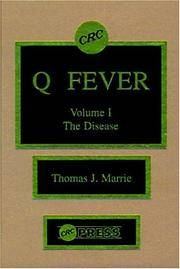 Q. Fever by Thomas J. Marrie - First Edition - from Cold Books and Biblio.com