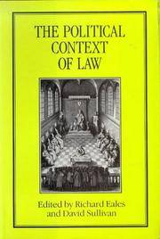 The Political Context of Law  Proceedings of the Seventh British Legal  History Conference...